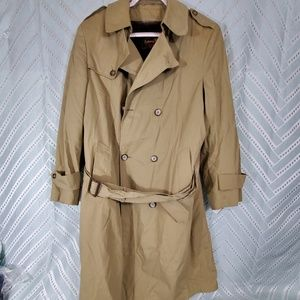 Botany 500 Belted Trench Coat Overcoat Mens Sz 40